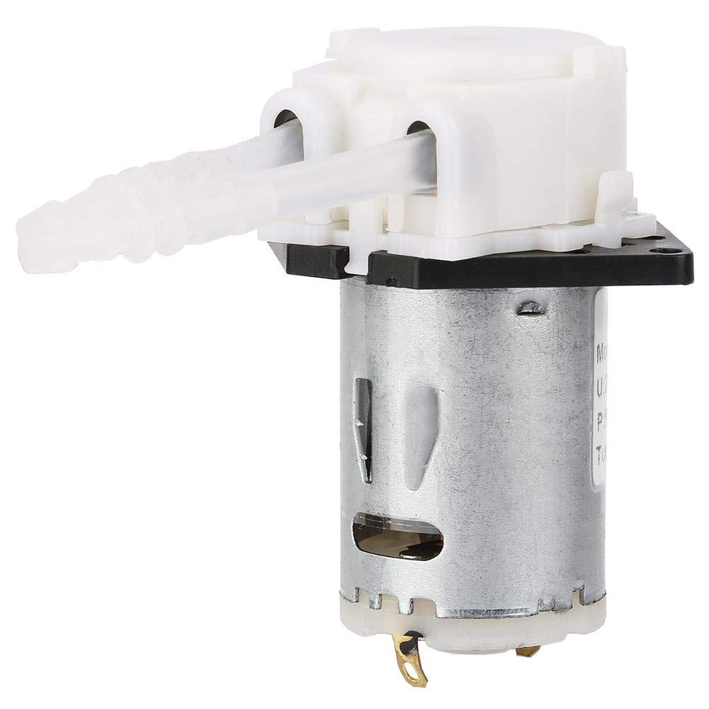 Keenso Bomba peristáltica 24 V 3 * 5 Micro bomba dosificadora automática Cabeza de tubo peristáltico DIY para el laboratorio de análisis químico(blanco)