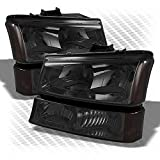 2003 avalanche headlight assembly - For 2003-2006 Silverado, 2003-2005 Avalanche Smoked Headlights + Bumper Parking Lights Pair Left+Right 2004 2005