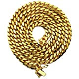 Mr. Bling 10K Yellow Gold 6mm Solid Miami Cuban Link Chain Necklace with Secure Box Lock (26)