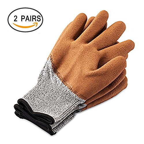 Cut Stab Cut Resistant Gloves,TFboys 2 Pack Gloves Resistant Level 5 Working Protective Gloves Anti Abrasion for Safety by TFboys (Image #1)
