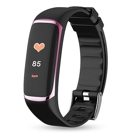 Purebesi Reloj Deportivo Bluetooth Pulsera Inteligente Mujer Hombre, Color Screen Clasificación IP67 a Prueba de