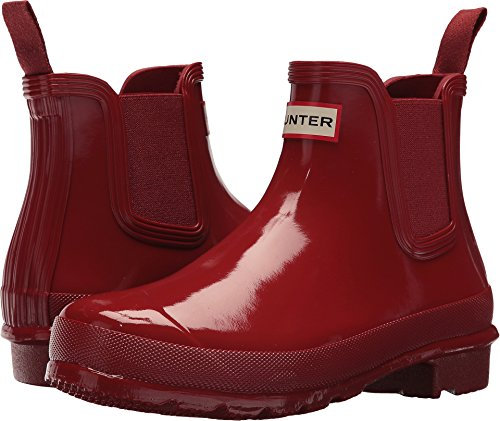 Red Womens Shoe Gloss (Hunter Women's Original Chelsea Boots Gloss Military Red 8 M US)