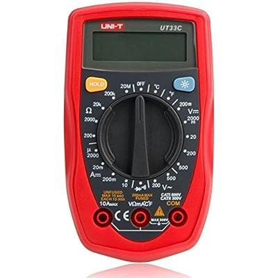 UT33C Palm Size Digital Handheld Multimeter DMM DC AC Ammeter Voltmeter Ohm Tester
