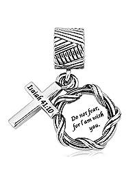 Charmed Craft Religious Christian Cross Charm for Charm Bracelets