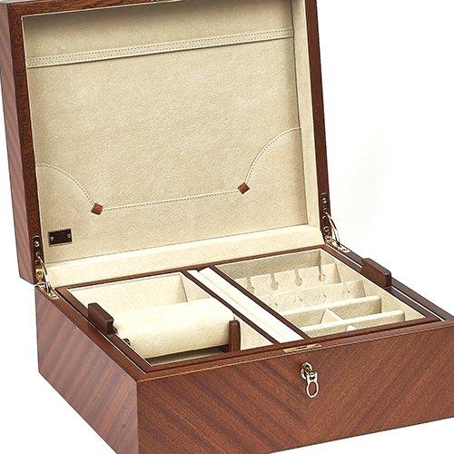 Bello Collezioni - Leonardo Men's/Women's Briar Wood Luxury Jewelry Box. Made in Italy
