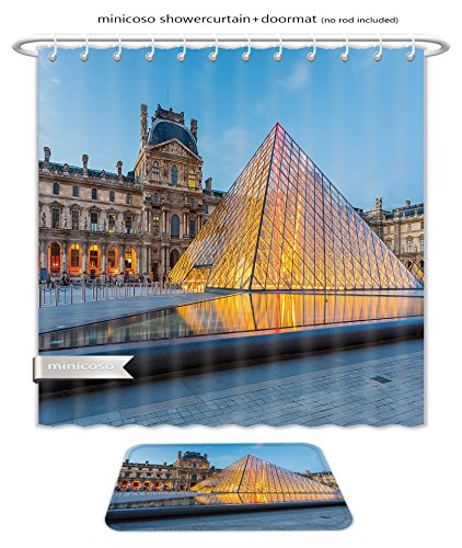 Minicoso Bath Two Piece Suit: Shower Curtains and Bath Rugs Paris France May The Louvre Museum In Paris Is One Of The World S Largest Museums And Shower Curtain and - Largest Macy's