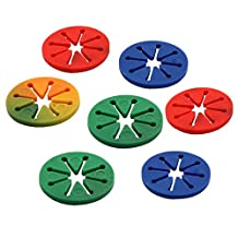 uxcell® Rubber Home Circle Sock Clip Holders Stockings Washing Sorters Organization 7 Pcs Assorted Color