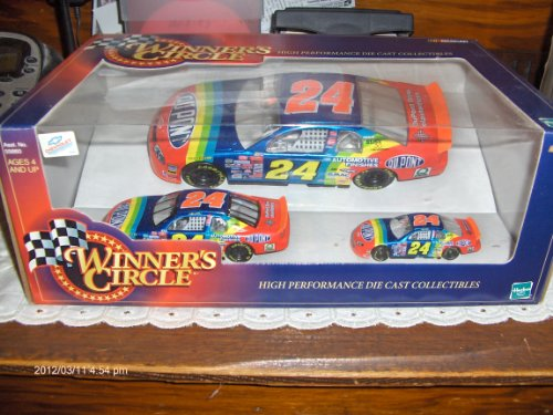 Jeff Gordon #24 Dupont Million Dollar Date 3 Car Set 1999 Winners Circle Diecast Car Collectable
