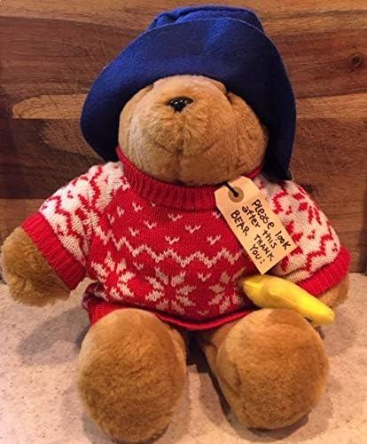 Sears Paddington Bear Plush Christmas Sweater Stuffed Bear