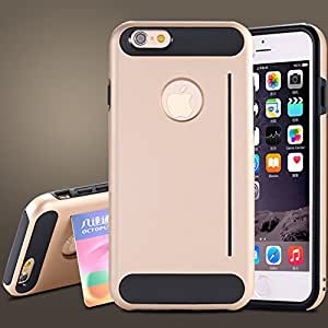 Luxury Armor Kickstand Hands-free View Case For iPhone 6 4.7inch Precise Hole Durable Protection Shockproof Shell Back Cover --- Color:silver