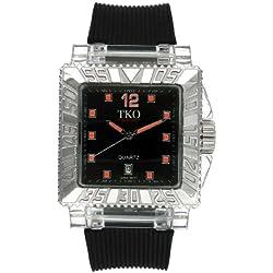 TKO ORLOGI Men's TK601-BO Coliseum Plastic Case and Rubber Strap Watch
