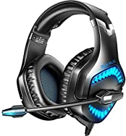RUNMUS Gaming Headset for New Xbox One, PS5, PS4, PC Headset with Stereo Sound, Noise Canceling PS4 Headset wi