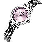 New Women Watches Quartz-watch Dress Ladies Watch Women Relojes Mujer Classic Retro Stainless Straps pink