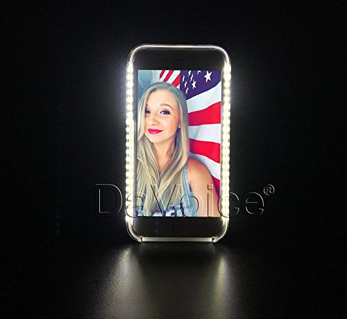 iPhone 5 Light Up Case - iPhone 5S LED Case - Light Up iPhone 5c Case -  iPhone SE Light Up Case - Selfie Flash Phone Case - Strobe Light - DaVoice  ... 4115c7452