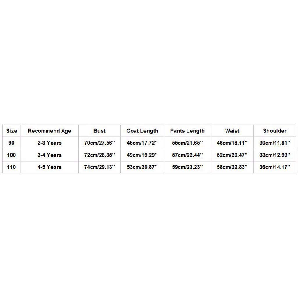 Stepphose Winterjacke mit Kapuze Down Jacket 2tlg Bekleidungsset Verdickte Warme Winter Mantel f/ür 2-5 Jahre Kleinkinder M/ädchen Junge S/ü/ß Daunenjacke Zhen