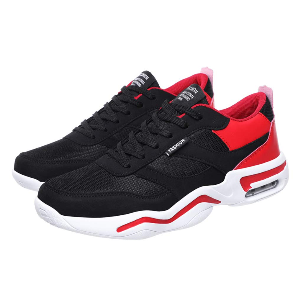 Herrenschuhe, Casual Turnschuhe, Student Slip-Ons Laufschuhe, Walking Gym Schuhe,rot,40