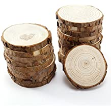 Wood Slices with Bark for Crafts, 3.5-4 inch 15pcs by MAIYUAN