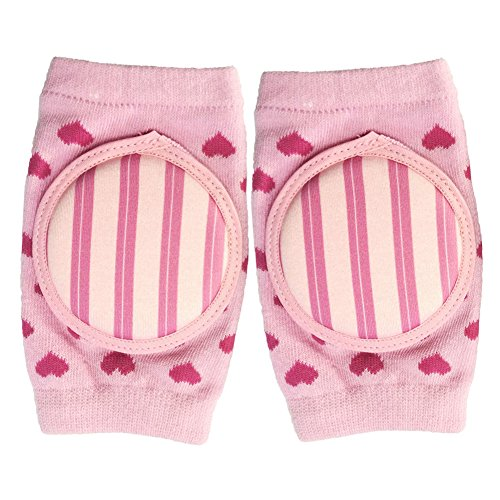 MerryShop Baby Crawling Knee Pad Toddler Elbow Protective Pads Crawling Safety Protector- Indoor / Outdoor Use (Pink)