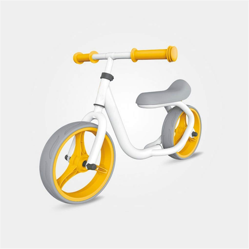 ZQZN Bicicleta de Equilibrio sin Pedales de 12 Pulgadas, Bicicleta para niños sin Pedales, Bicicleta con Equilibrio para niños de 2 Ruedas, Linda Bicicleta para niños con Marco de Acero,Orange