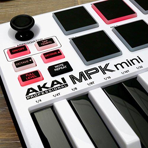 akai professional mpk mini mkii white 25 key ultra portable import it all. Black Bedroom Furniture Sets. Home Design Ideas