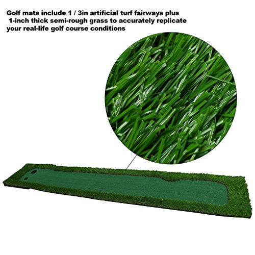Golf Putting Mat,OUTAD Indoor Golf Training Mat Putting Green System Professional Golf Practice Mat Green Long Challenging Putter(1.6ftx10ft) by OUTAD (Image #3)