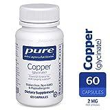 Pure Encapsulations - Copper (Glycinate) - Hypoallergenic Essential Mineral Supplement - 60 Capsules