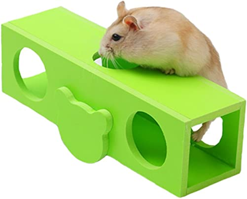 Wildforlife Wooden Hamster Seesaw Mouse Tunnel Tube Toy