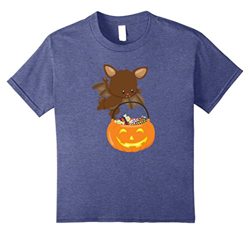 Kids Cute Funny & Unique Baby Bat Halloween Costume Gift T-Shirt 12 Heather Blue