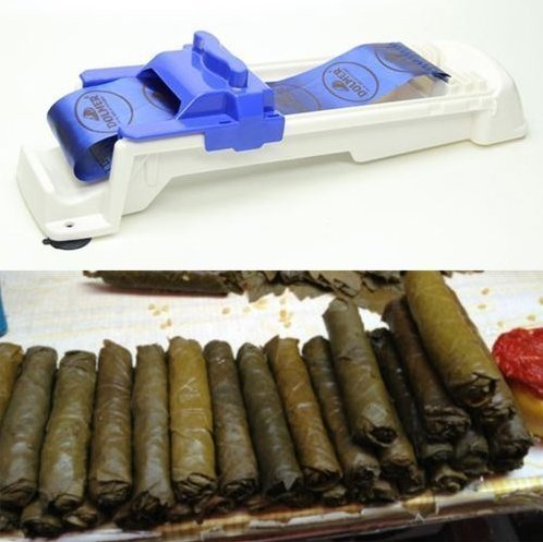 Stuffed Leaves Cabbage (Stuffed Grape Leaves Cabbage Leaves Rolling Machine Turkish Sarma Dolma Sushi by Abcstore99)