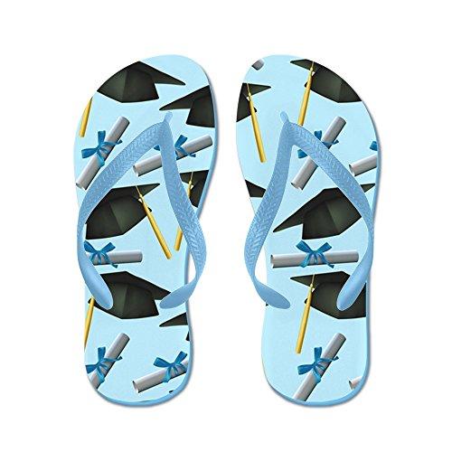 CafePress Caps and diplomas - Flip Flops, Funny Thong Sandals, Beach Sandals Caribbean Blue