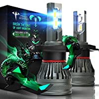 90W 9003 Extremely Bright Conversion Kit G-XP x3 Chips 6500K Cold White NINEO 16000LM H4 LED Headlight Bulbs