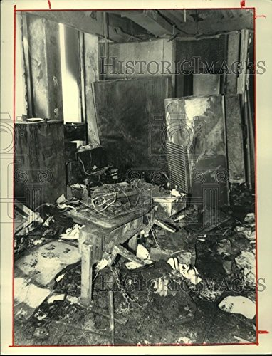1986 Press Photo Fire damage at South Mall Agency Building, Albany, New - New Mall Albany York
