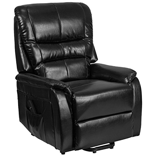 Flash Furniture HERCULES Series Black Leather Remote Powered Lift (Series Leather Recliner)
