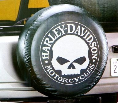 Harley-Davidson Tire Cover Grey Willie G Skull (Diesel Harley Davidson)