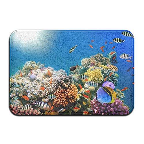 Deep Water Sealife Mats 3D Printing Doormat Kitchen Front Door Mats Non Slip Carpets For Bedroom Living Room Kitchen Garden, 2' X 3' (Life Sea Memory)