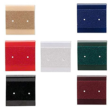 Black 50 Small 1 Inch Square Earring Display Cards with Hanging Tab for 1 Pair