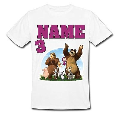 Sprinklecart Masha And The Bear Themed Birthday T Shirt