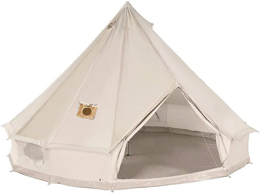 DANCHEL Cotton Bell Tent with Two Stove Jacks Review