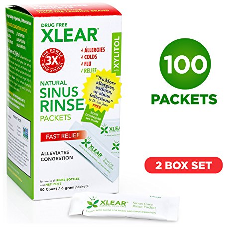 Neti Xlear Sinus Care Refill Packets (100 Packets) by Xlear
