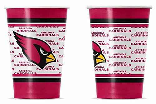 NFL Arizona Cardinals Disposable Paper Cups (20-Pack)