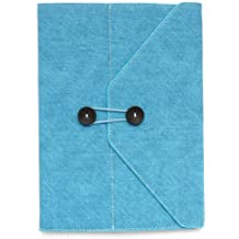Hot !! Chic and Classic Blue Fabric Envelope Style Sleeve Case Ultra-thin Protective Cover Pouch Shell Portfolio Stand for New Apple iPad 2 iPad 3 & iPad 4 Case