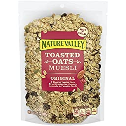 Nature Valley Toasted Oats Muesli, Original, 11 Ounce (Pack of 4)