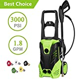 Homdox 3000 PSI Power Washer Electric Pressure Washer 1800W 1.8GPM Electric Power Washer Cleaner Machine with 5 Interchangeable Nozzles
