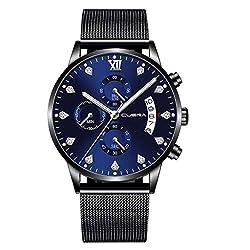 Hotkey Womens Bracelet Watches On Sale Stainless Steel Luxury Men Fashion Military Analog Sport Wrist Watch