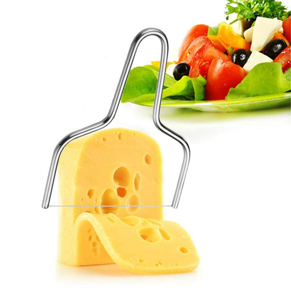 PROKTH Cheese Slicer, Stainless Steel Cheese Knives Slicers with Wire - Kitchen Tools Handheld Butter Cutter Tools for Soft Hard Block Cheese Knives
