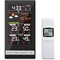 ECOWITT Digital Wireless Colour Weather Station Indoor Outdoor Temperature Thermometer Humidity, Ice Alert, Barometric…