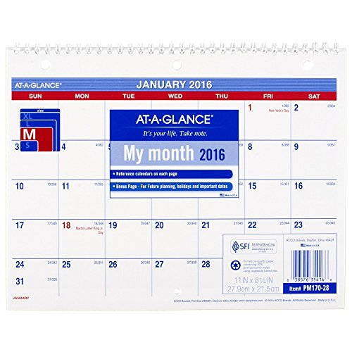 GLANCE Monthly Calendar Months PM170 28