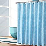 Bath Waterproof Shower Curtain Thickened Mildew-Proof Polyester Fabric Partition Hanging Curtains Bathroom Curtain, Wide 200* High 210Cm