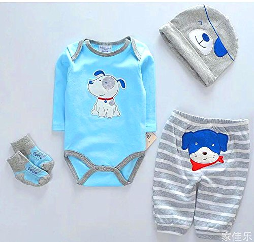 "NPK Reborn Dolls Baby Clothes Toy Blue Dog outfit for 20""- 22"" Reborn Doll boy Baby Clothing Light Blue Outfit Sets"