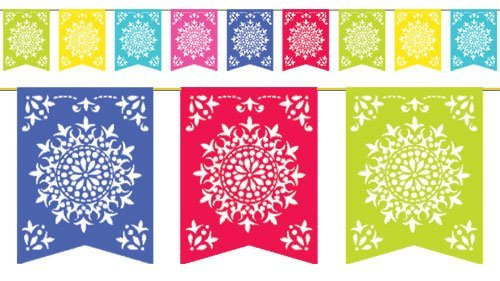 Amscan Festive Del Sol Flag Banner Party, Multicolor, 12 (Two-Pack) by Amscan